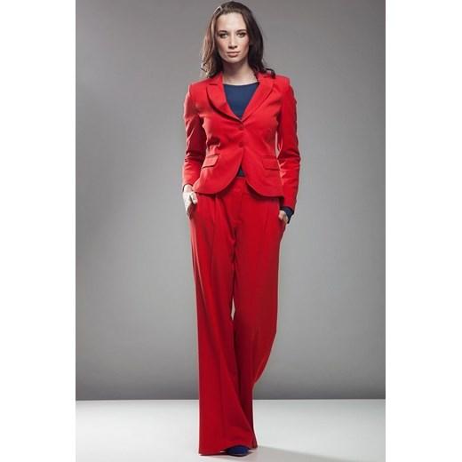 ca31ccee7dc036 Nife Klasyczne spodnie do żakietu sd02 czerwone arkanymody czerwony elastan  w Domodi