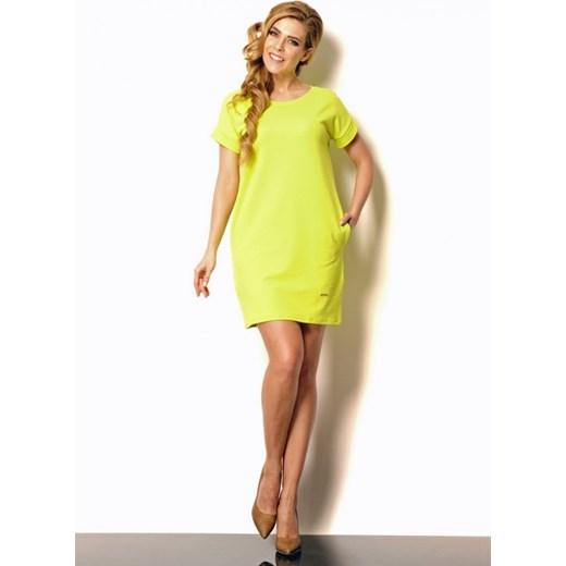 852f3e5926 Lemoniade Bawełniana sukienka tuba z kieszeniami Lili limonka arkanymody  zielony bawełna