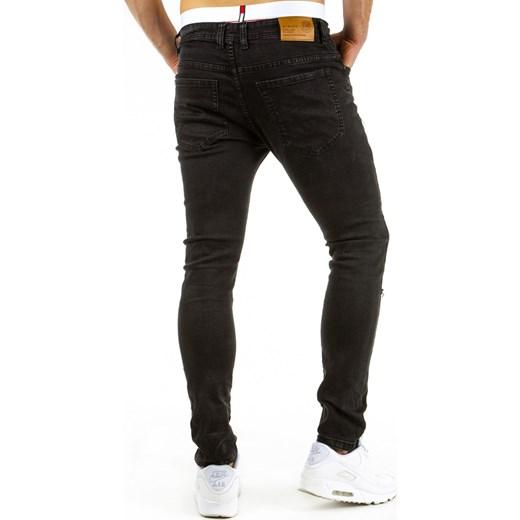 spodnie dzinsowe męskie czarne