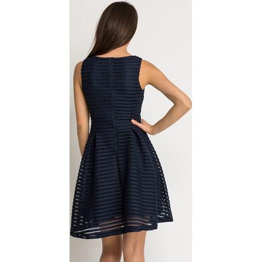 907a01b4ea ... Rozkloszowana sukienka z transparentnymi wstawkami Orsay czarny 38 orsay.com  ...
