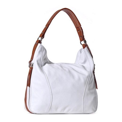 128c1cf733e39 ... bialy elegancki  Włoska torba damska ze skóry biała SARA laza elegancki