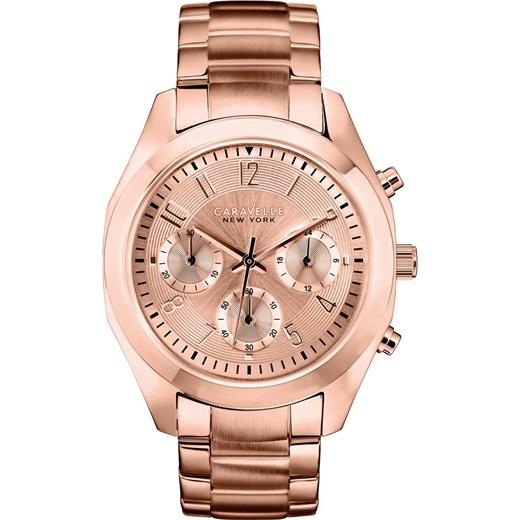 3eb4265971842c ZEGAREK CARAVELLE 44L115 Nowoczesne Zegarki na rękę e-watches bezowy  Zegarki damskie