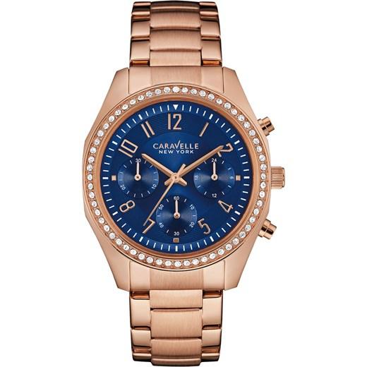 7aa63acd517b20 ZEGAREK CARAVELLE 44L196 Nowoczesne Zegarki na rękę e-watches bezowy  Zegarki damskie