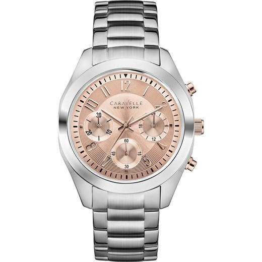 10405c31d1eb3a ZEGAREK CARAVELLE 45L143 Nowoczesne Zegarki na rękę e-watches bezowy damskie  w Domodi