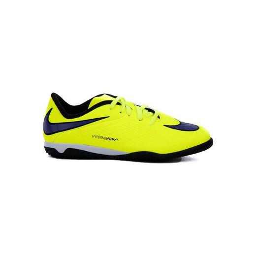 big sale 9dbca d1e6b Nike Buty do piłki nożnej Dziecko JR Hypervenom Phelon IC - Żółte  Ekoskórzane Sportowe Dziecięce Nike