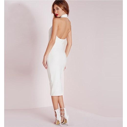 5632def278 Długa Biała Suknia Bez Pleców Mahe bezowy Mahé w Domodi