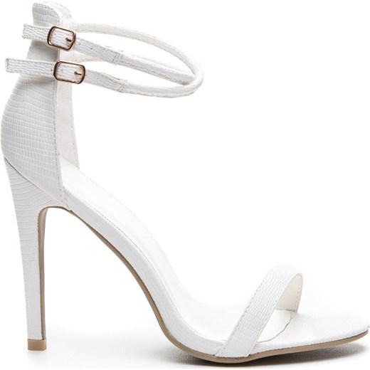 054d6c684703d6 DELIKATNE SANDAŁKI WHITE LIZARD - biały czasnabuty-pl bialy sandały ...