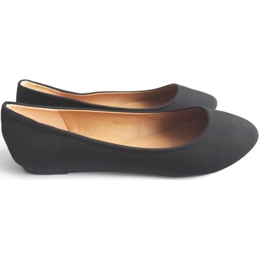 e0378aac74 Baleriny damskie czarne balerinki duże rozmiary Cink-Me szary Family Shoes