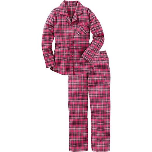 W Mega Piżama flanelowa bonprix fioletowy bawełniane w Domodi MV54