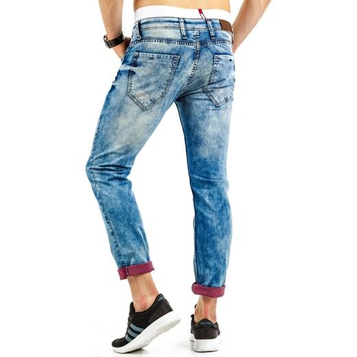 d2a130df241340 Spodnie jeansowe męskie (ux0687) Jeans niebieski DSTREET w Domodi