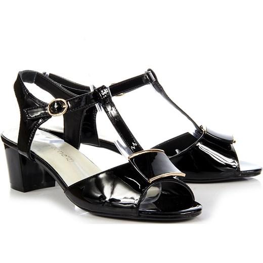 bd142f745a3e ... SERGIO LEONE czarne sandały lakierowane na słupku Sergio Leone 36  ButyRaj.pl ...