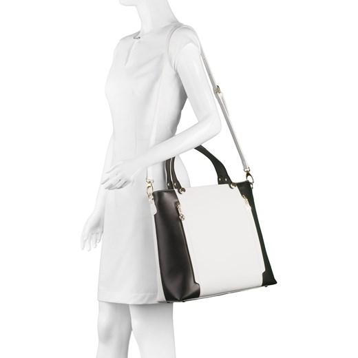4f82c9ffc63d5 ... bezowy glamour Biało-czarna torebka do ręki kazar-com szary na ramię.  Zobacz: Kazar