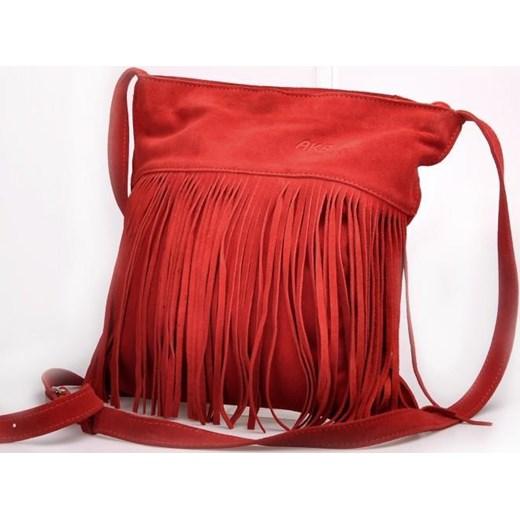 01ac94a85d7b6 MADE IN ITALY Postino 177 włoska torebka skórzana z frędzlami czerwona  czerwony Skorzana.com ...