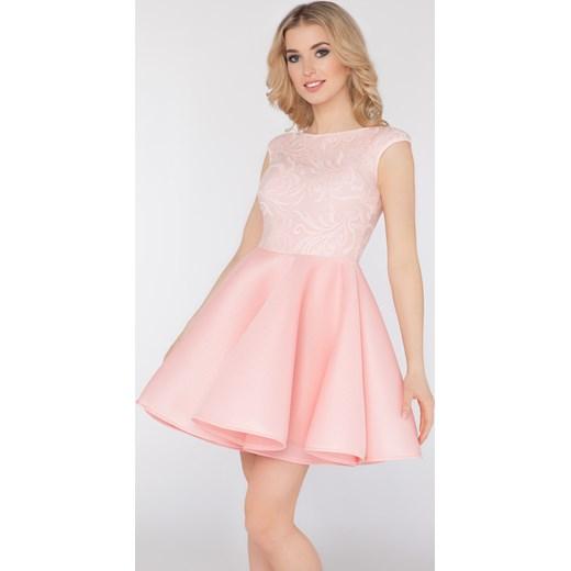 768ce10b23 Sukienka Lea pudrowy róż bezowy Limoda limoda.pl w Domodi