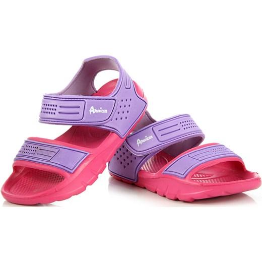 701cb704983b ... AMERICAN CLUB różowo-fioletowe sandały piankowe na rzepy plaża basen  American Club fioletowy 35 ButyRaj