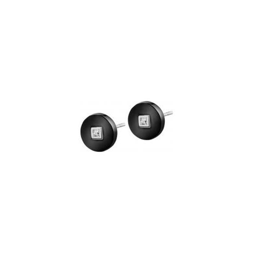 90d77249af4da0 Kolczyki srebrne z ceramiką i cyrkoniami czarny Apart w Domodi