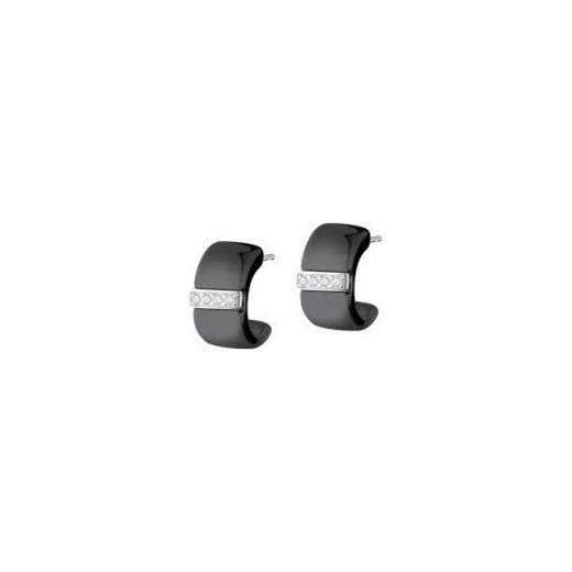 47e56359253d1a Kolczyki srebrne z ceramiką i cyrkoniami Apart szary w Domodi