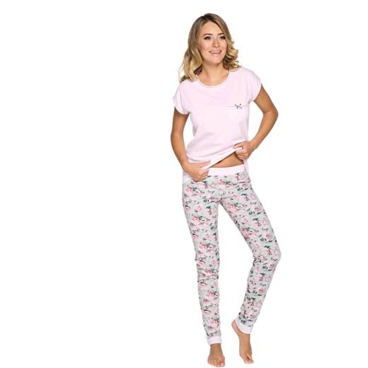 0b6b058b5c1e6e Piżama damska różowa JOWITA szary Italian Fashion SweetSleep w Domodi