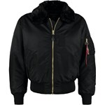 Alpha Industries B15  Kurtka Bomber black czarny Alpha Industries S Zalando