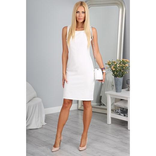 Sukienka Kremowa 9932 Fasardi Fasardi Com W Domodi