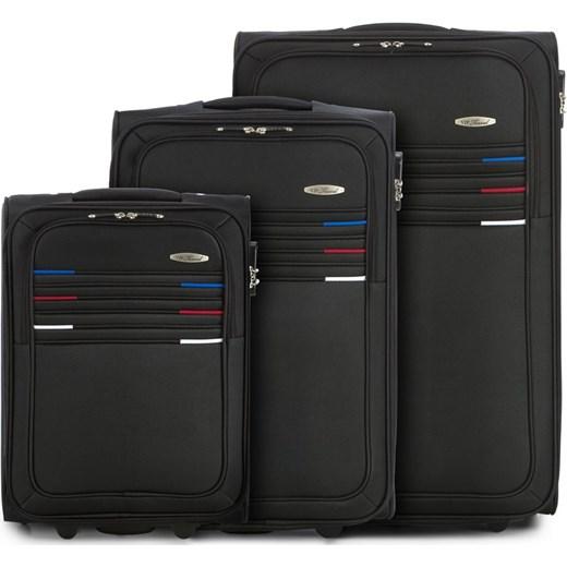 00216c399fd29 V25-10-47X-10 Komplet walizek na kółkach Vip Collection szary WITTCHEN  wyprzedaż ...
