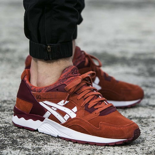 asics gel lyte 5 bordowe