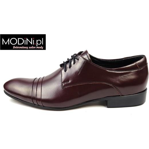 b730fc491399b ... Bordowe buty męskie Faber z zakładkami Faber - Obuwie Męskie czarny 40  okazja Modini ...