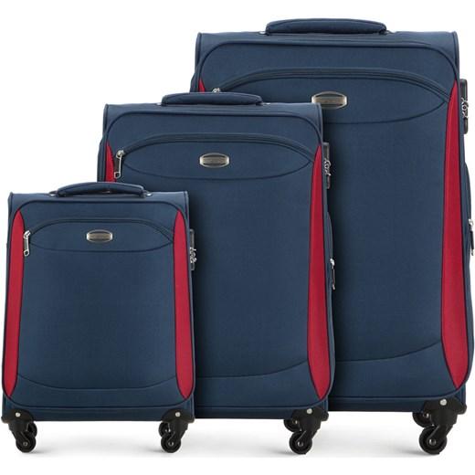 1e77dee2ad3a2 V25-10-44X-90 Komplet walizek na kółkach Vip Collection szary wyprzedaż  WITTCHEN ...