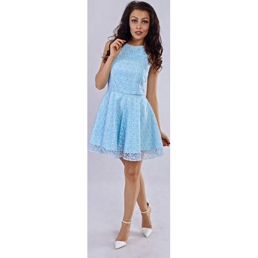 dbe539d6c1 ... Milena Płatek Ekskluzywna rozkloszowana koronkowa mini sukienka MP98  RÓŻNE KOLORY niebieski Milena Płatek 34 ArkanyMody ...