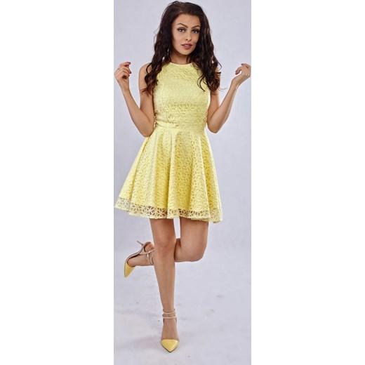 2bb042e9b7 ... Milena Płatek Ekskluzywna rozkloszowana koronkowa mini sukienka MP98  RÓŻNE KOLORY Milena Płatek szary 40 ArkanyMody ...