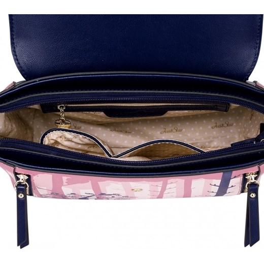 6340d1d094eee ... JUST STAR Damska torebka z wzorem Różowo-granatowa granatowy Just Star  Margo-collection ...
