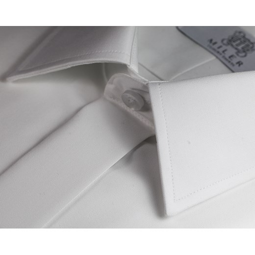 ba3332939c2e4c ... Koszula do muchy - biała Miler Luxury Shirts szary 45 Classic Miler  Menswear ...