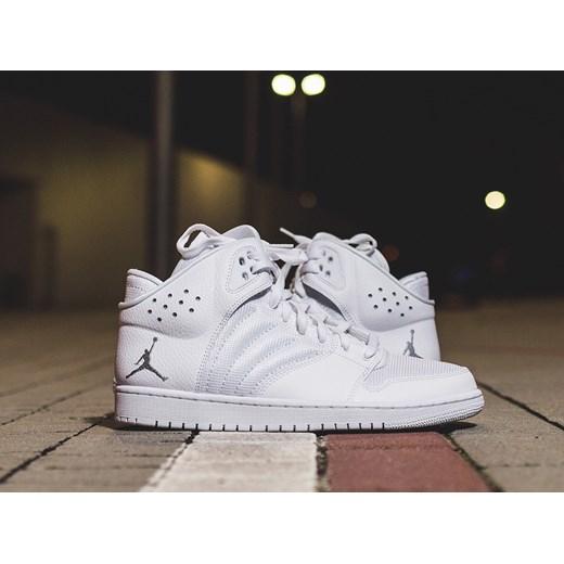 Buty męskie sneakersy Nike Jordan 1 Flight 4 820135 100 szary sneakerstudio.pl