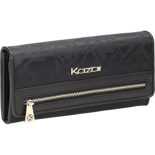 96e2f49477a80 Czarny portfel damski szary Kazar kazar.com w Domodi