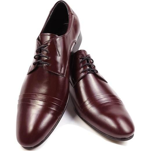 175d828634f99 Bordowe buty męskie Faber z zakładkami Faber - Obuwie Męskie brazowy 40  wyprzedaż Modini ...