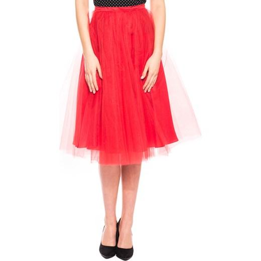 70d351c819 Czerwona tiulowa spódnica midi Bialcon pomaranczowy bialcon.pl w Domodi