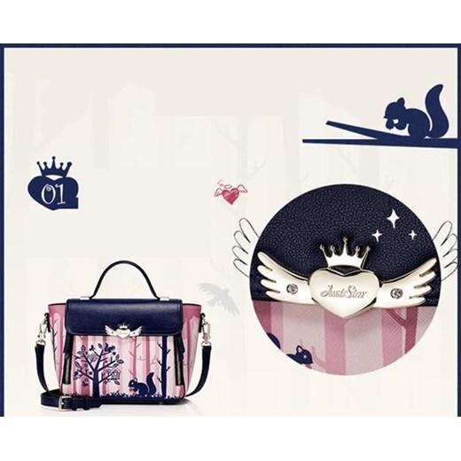 ebf91f72f860b ... JUST STAR Damska torebka z wzorem Różowo-granatowa bialy Just Star  Tabela rozmiarów uniwersalnych Evangarda ...
