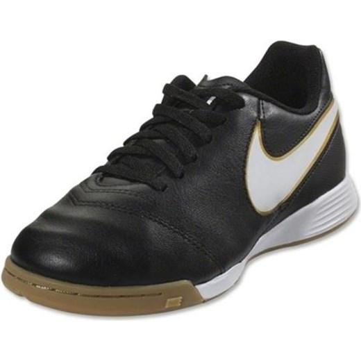 24ca798ff Buty halowe Nike Tiempo Legend VI IC Jr 819190-010 Nike czarny 27 okazja  Sklep ...