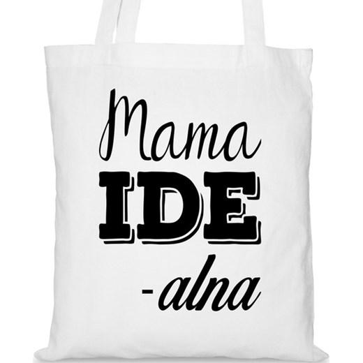 ec496f279f6f0 Torba na Dzień Matki Mama idealna na DaWanda.pl Dawanda.pl szary  uniwersalny DaWanda