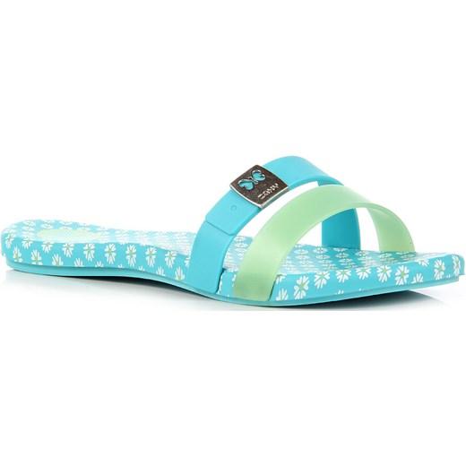 be98bb39033713 ZAXY INTENSE SUMMER FEM 81824-90019 niebieskie klapki damskie plażowe w  kwiaty turkusowy ButyRaj.pl w Domodi
