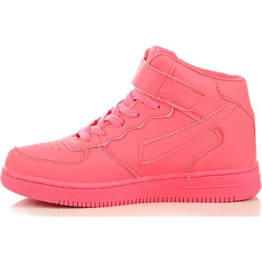 Sportowe buty neonowe damskie wysokie na rzep Xcore Badoxx ButyRaj.pl