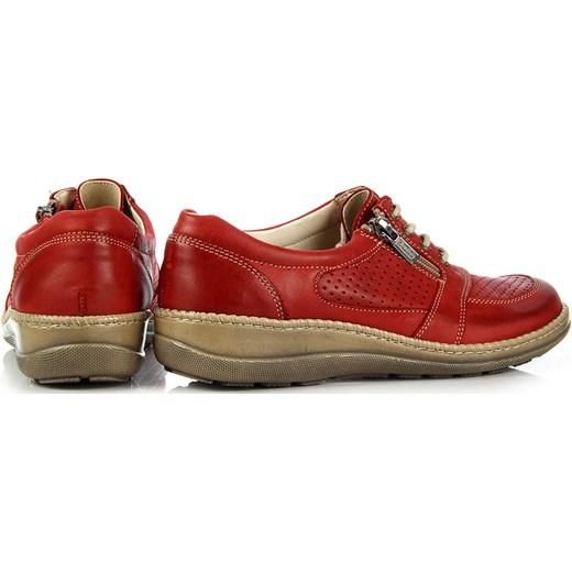 4a8e7e76722e6 ... HELIOS 313 skórzane czerwony półbuty damskie komfortowe Helios 36  ButyRaj.pl ...