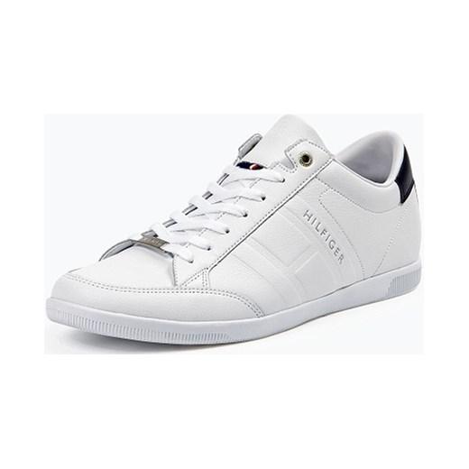 21c167297 Tommy Hilfiger - Męskie tenisówki ze skóry – Denzel 8A, biały Tommy Hilfiger  41,