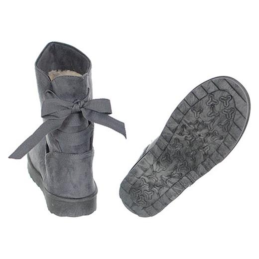 688dcd68fb40f ... ŚNIEGOWCE ESKIMOSKI DAMSKIE SZARE szary 36 Family Shoes ...