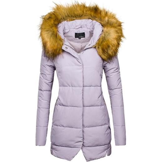 Liliowa kurtka zimowa damska Denley 8071 Denley.pl
