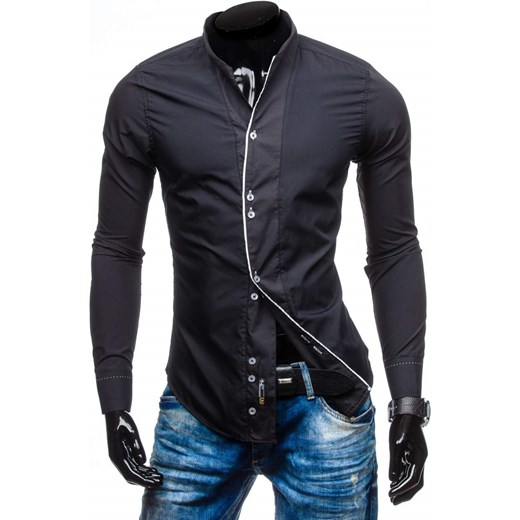 3ad9acc42a71c4 Koszula męska BOLF 5720-1 czarna Denley.pl w Domodi