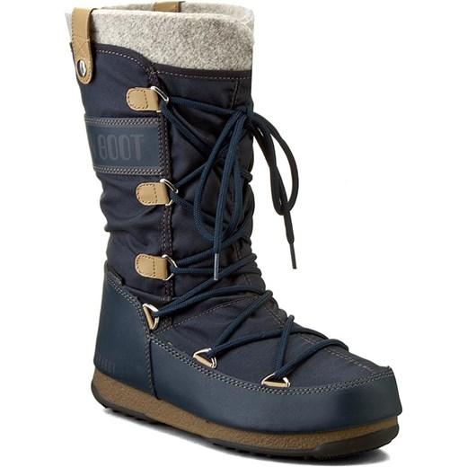 f1f3c717 Śniegowce MOON BOOT - W.E. Monaco Felt 24003200006 Blu Denim Moon Boot 39  eobuwie.pl