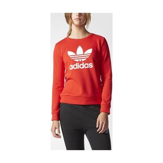 652c9d175 adidas Bluza sportowa Trefoil Crew Sweatshirt Adidas pomaranczowy  34,38,40,42,