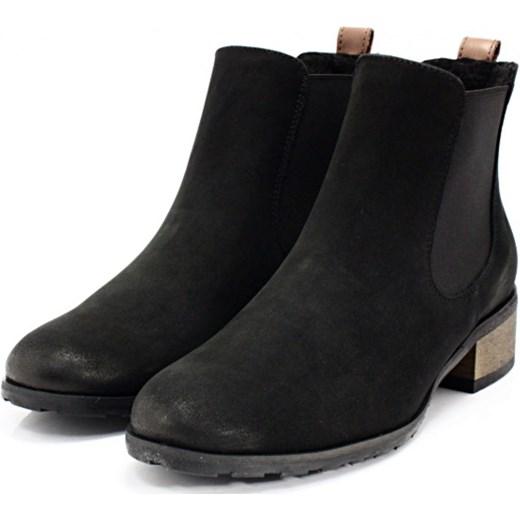 2bf14da05c111 CHILLI SHOES 010 CZARNY - Klasyczne damskie sztyblety ze skóry czarny  Chilli Shoes 37 Tymoteo.