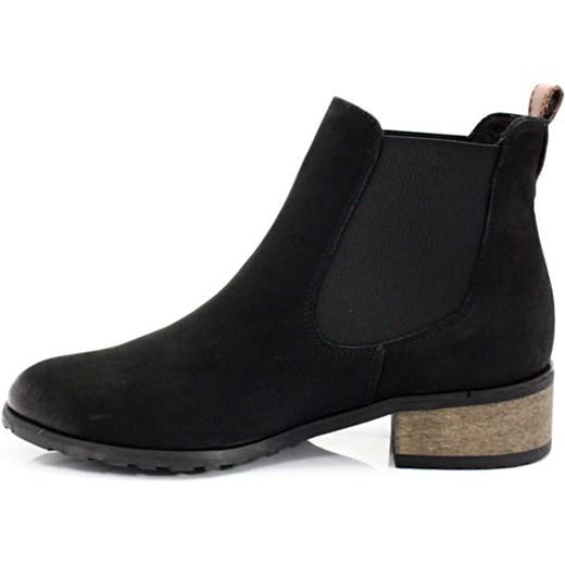 43a724ae7df72 CHILLI SHOES 010 CZARNY - Klasyczne damskie sztyblety ze skóry czarny  Chilli Shoes 40 Tymoteo.